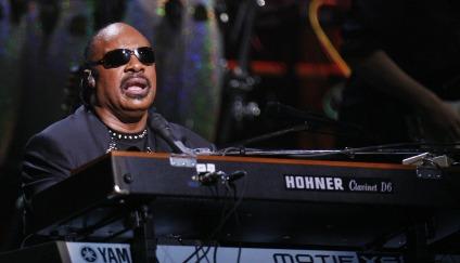 Image: Stevie Wonder at Rock & Roll Hall of Fame concert