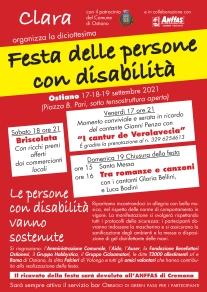 Locandina Festa delle persone con disabilità Ostiano 2021
